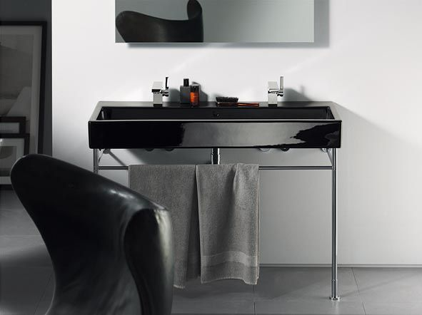 duravit design in zwart en wit een upgrade in de badkamer. Black Bedroom Furniture Sets. Home Design Ideas