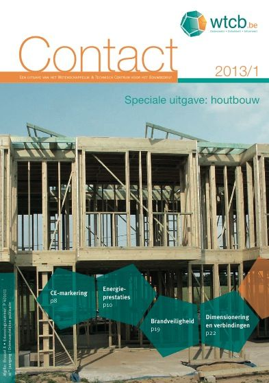 Speciale Wtcb Contact Focust Op Houtbouw Architecturabe