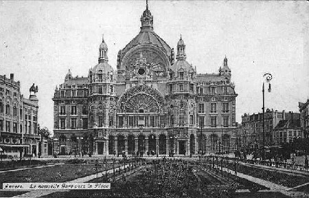 An old postcard showing Central Station