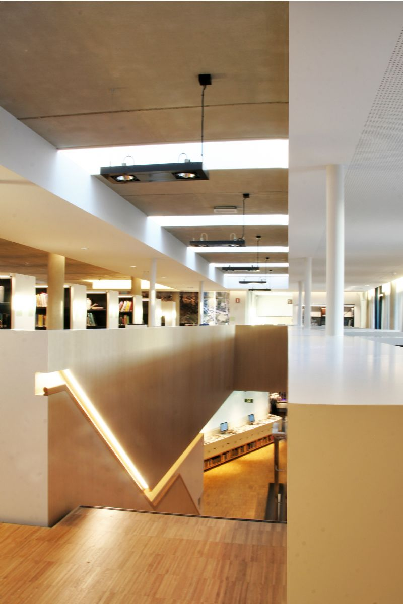 Bibliotheek bilzen for Interieur architect vacature